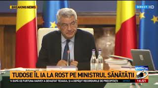 Mihai Tudose îi ia la rost pe ministrul Sănătății