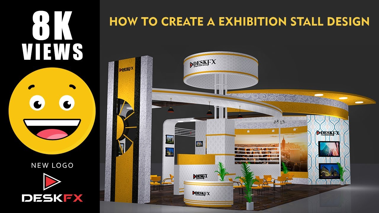 Exhibition Stand Design 3d Max : Ds max exhibition stall tutorial and texturing in ds max