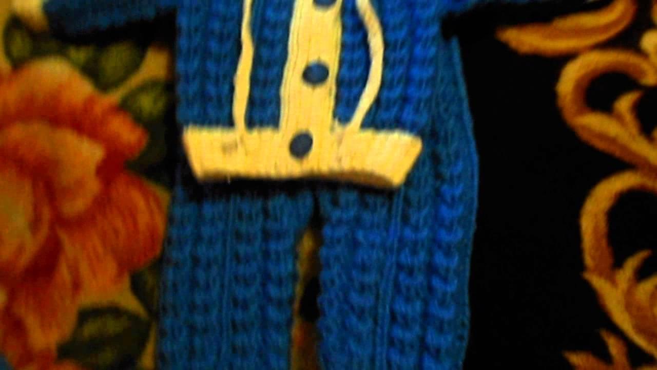 Вязание детских штанов (штанишек) спицами - YouTube
