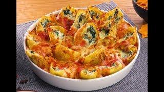 Фаршированные Ракушки С Сыром И Шпинатом: Вкуснейший Рецепт Без Мяса