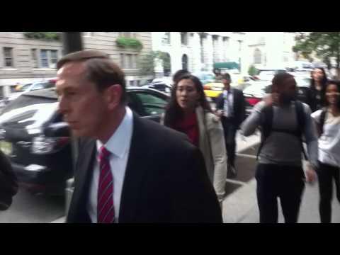 CUNY Students Confront War Criminal David Petraeus