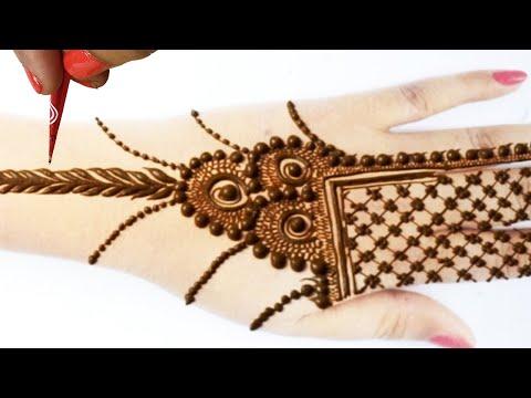 Eid Special Mehndi form Dots & Checks- ज्वेलरी मेहँदी लगाना सीखे - Stylish Mehandi Design
