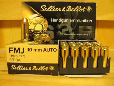 10mm auto 180 grain fmj ammo by sellier bellot sb10a at youtube. Black Bedroom Furniture Sets. Home Design Ideas