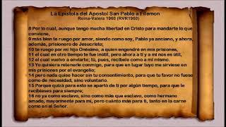 La Biblia - La Epístola del Apóstol San Pablo a Filemon  Filemon  Reina Valera 1960 RVR1960