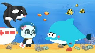 Baby learns animals living in the sea - Exploring the ocean with Panda doctor