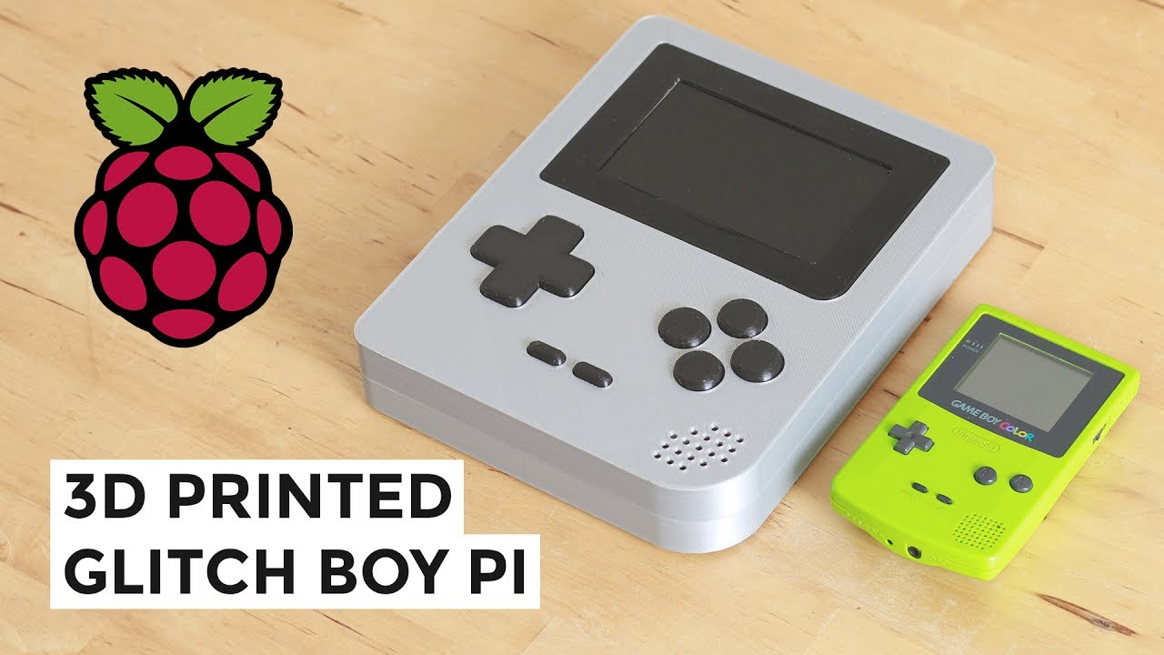 Giant 3D Printed Raspberry Pi Gameboy by @Flowalistik
