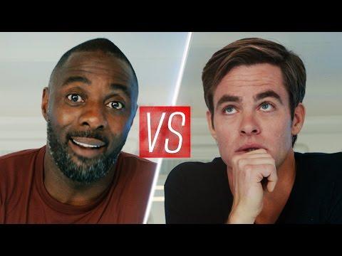 Chris Pine & Idris Elba film a charity video...kinda