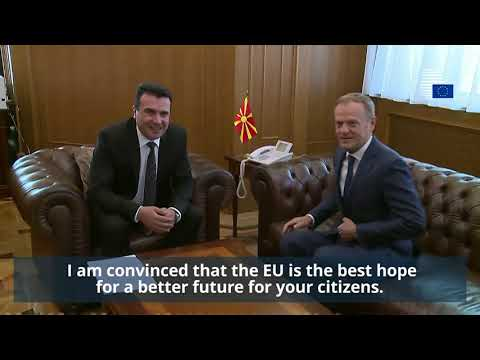 President Tusk visits Skopje - Highlights