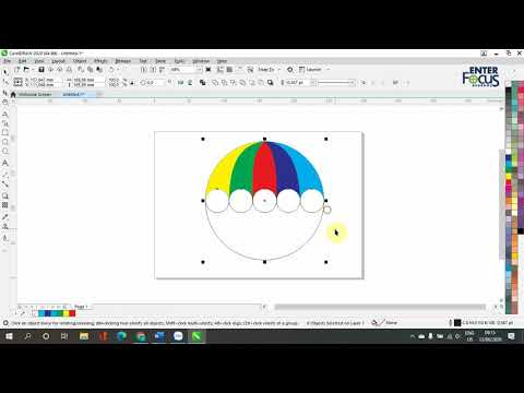 Hướng dẫn thực hành CorelDRAW: Vẽ cái ô trong CorelDRAW với công cụ Smart Fill