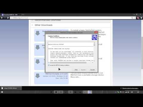 Tutorial Descarga E Instalacion De LaTEX, MikTEX, Y TexMaker  En Windows 7, 8 Y  8.1