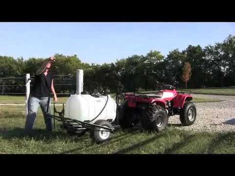 60 Gallon Trailer Sprayer with 14 Foot Breakaway Boom - Master Manufacturing