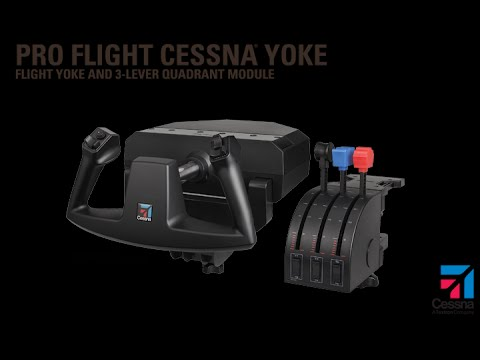 Saitek Pro Flight Cessna Yoke: Unboxing, Initial look and Setup