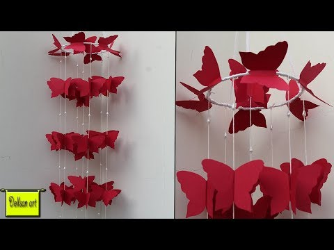 DIY-paper wall Hanging craft ideas | DIY Beautiful wind chime for room Decoration