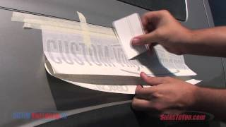 Vehicle Lettering Installation