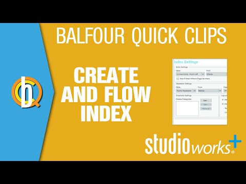 StudioWorks+: Create and Flow Index