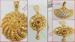 Gold Pendant Designs With Weight and Price | Latest Gold Pendant Collections