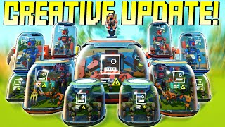 Creative Update FINALLY Brings Bot Spawners, Water Tiles, and More! - Scrap Mechanic Gameplay