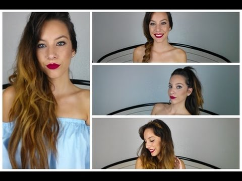 4 Peinados Faciles Con Extensiones De Clip Irresistible Me Youtube