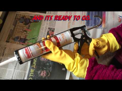 How to use a sealant gun: remove and load tube