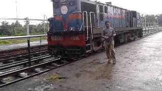 YDM4 6506 (Lumding) coupling at Karimganj Station