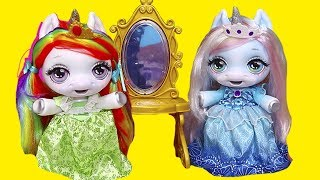 Baby Unicorns Pretend They are Princesses ! Toys and Dolls Fun for Kids with New Dollhouse | SWTAD