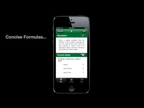 Excelling, the iPhone reference for Excel