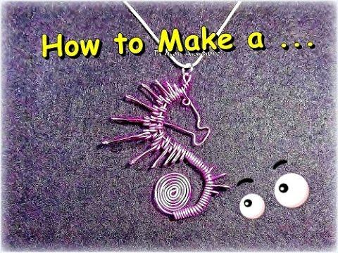 Como Hacer Caballito de Mar en Alambre//How to make Wire Sea Horse. By Puntoy Alambre