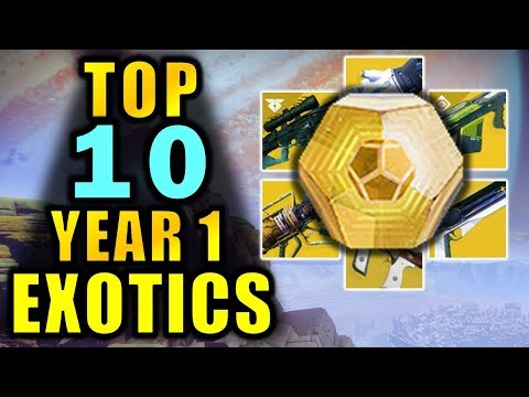 Destiny 2: TOP 10 EXOTIC WEAPONS From Year 1! - New Player Guide thumbnail