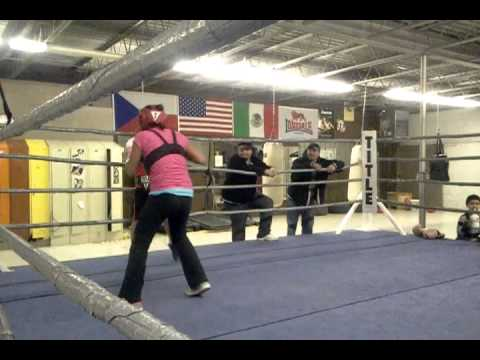 Shannon and Damon sparring graft golden gloves