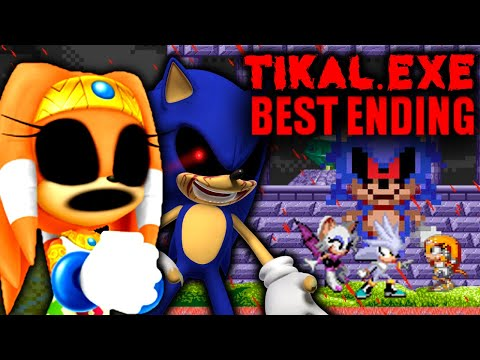 THE END OF SONIC.EXE - TIKAL.EXE - EVERYONE FINALLY SURVIVES AND GETTING THE BEST ENDING Horror Game