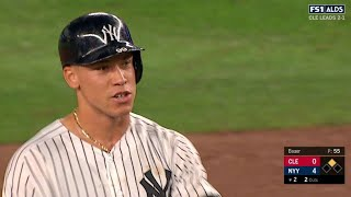 CLE@NYY Gm4: Judge smashes a two-run double to left
