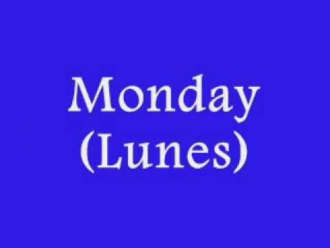 Los Dias De La Semana En Ingles Days Of The Week In English Youtube