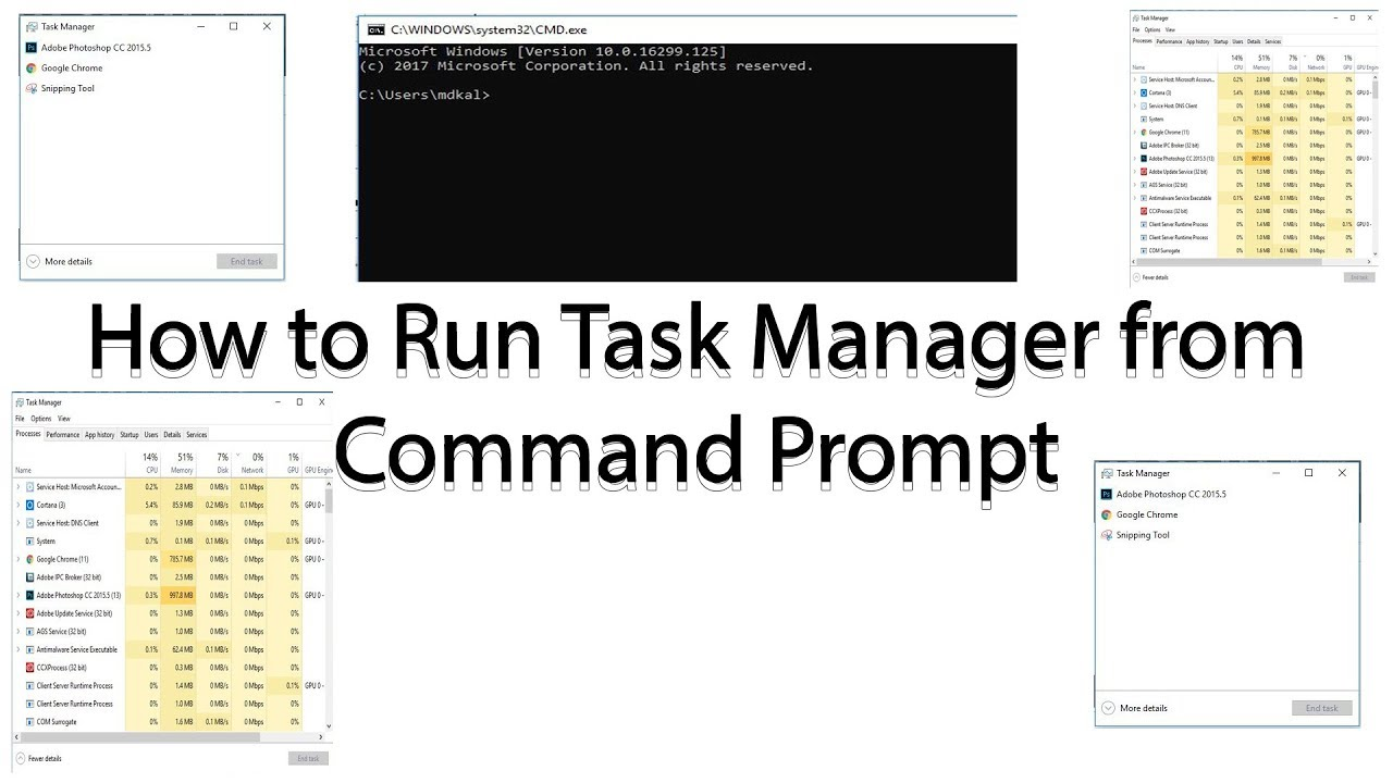 How to Run Task Manager from Command Prompt - YouTube