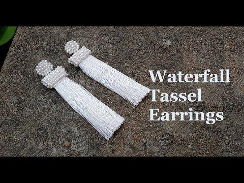 How to make tassel earrings at home//DIY silk thread tassel earrings//Oscar de la renta earrings