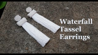 How to make tassel earrings at home//DIY silk thread tassel earrings//Oscar de la renta earrings