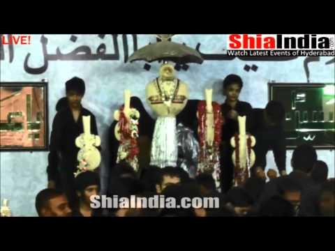 8th Muharram Anjuman e Masoomeen Matam From Bargah e Hazrat e Abbas a s 1437 2015 16