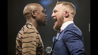 Floyd Mayweather vs. Conor McGregor World Tour First Staredown (London)