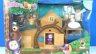 Maşa ile Koca Ayı Dev 2 Katlı Ağaç Evinde Oyuncak Teleferik Oyunu Maşanın Müzikli Evi Kutu Açılımı