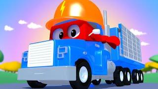 Panele Słoneczne - Carl Super Ciężarówka - Miasto Samochodówdów 🚚 ⍟ Bajki Dla Dzieci