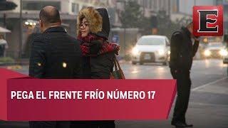 Frente frío 17 provoca bajas temperaturas en Tamaulipas