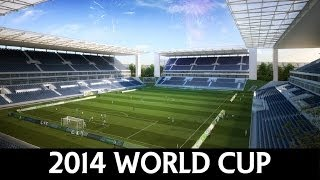 Video FIFA World Cup 2014 Brazil - Stadiums (NEW) download MP3, 3GP, MP4, WEBM, AVI, FLV Desember 2017
