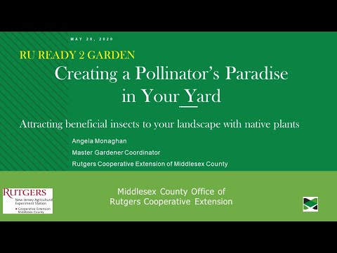 RU Ready 2 Garden Ep. 5 -Creating A Pollinator's Paradise In Your Yard