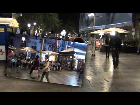 Barcelona: La Rambla (at night)