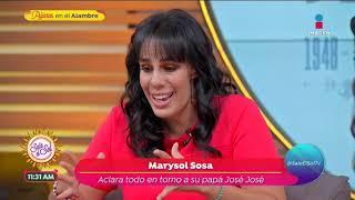 ¡EXCLUSIVA! Marysol Sosa aclara polémica sobre el fallecimiento de José José   Sale el Sol