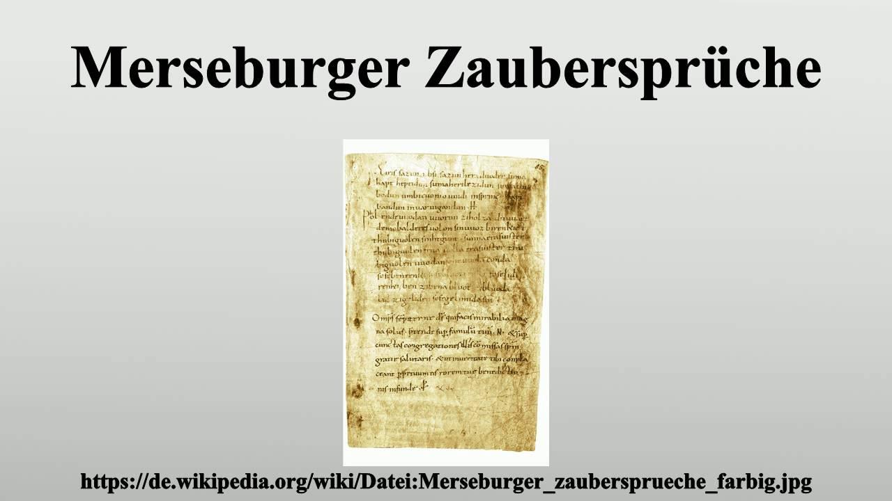 merseburger zaubersprüche - youtube