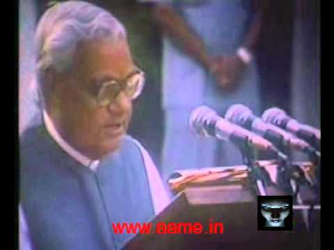 India's Nuclear weapons tests announced by then Prime Minister, Atal Bihari Vajpayee [1998.05.11]