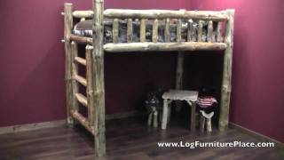 Pine Lake Space Saver Log Loft Bed