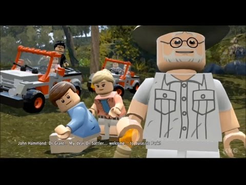 LEGO Jurassic World - Jurassic Park 1 - All Cutscenes | Movie [HD]