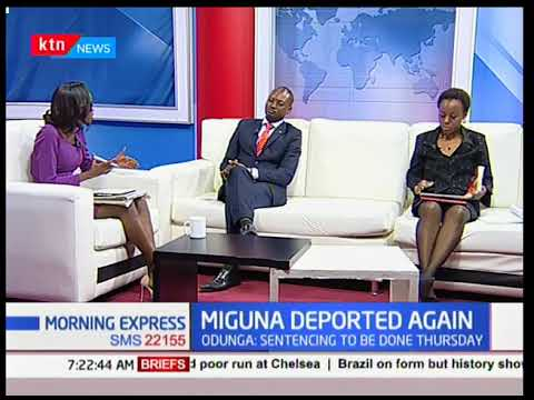 Miguna's lawyer explains the ordeal they went through at JKIA  before Miguna's deportation
