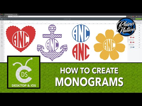 How To Create Monograms |  Cricut Design Space